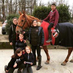Action, Matthieu, Vanessa, Gabi, Enzo, Julie et Léna