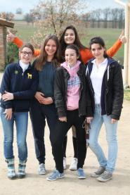 Mathilde, Raphi, Marine, Nina et Léna
